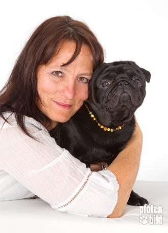 Portrait Hund und Besitzer